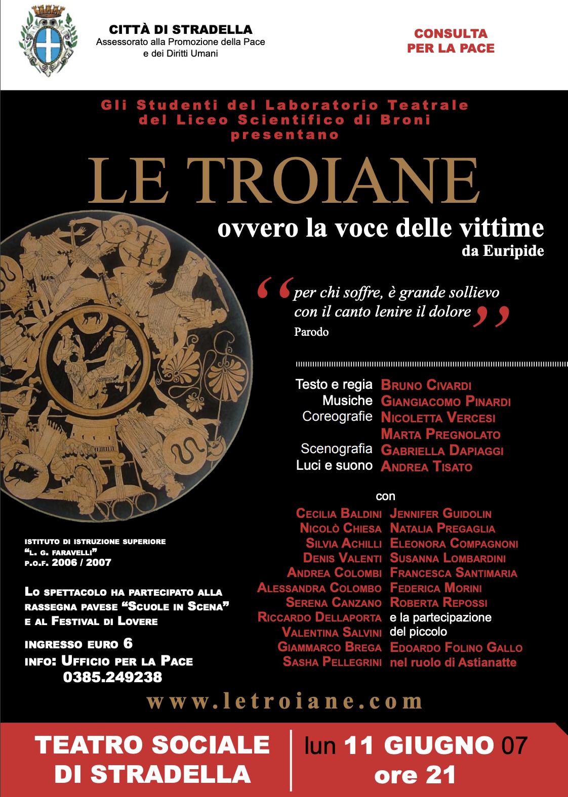 Le Troiane, ovvero la voce delle Vittime. Dramma satiresco liberamente ispirato ad Euripide